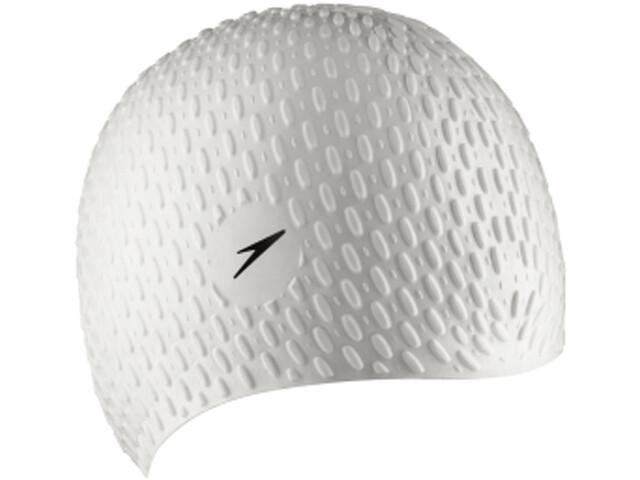 speedo Bubble Cap Unisex, white